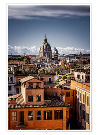 Póster Premium  Over the roofs of Rome, Italy - Sören Bartosch