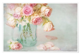 Póster Premium  lovely pink roses - Lizzy Pe