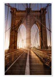Póster Premium  Brooklyn Bridge NYC - Sören Bartosch