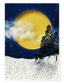 Póster Premium winter moon