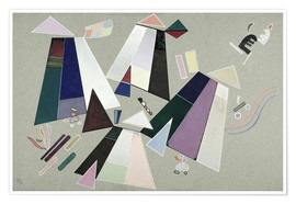 Póster Premium  Untitled (Composition with Grey Background) - Wassily Kandinsky