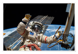 Póster Premium  ISS spacewalk - NASA