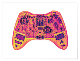 Póster Premium  Computer game controller, X-ray - Gustoimages