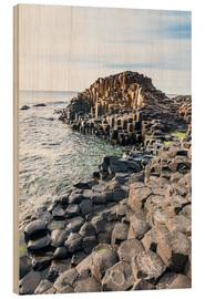 Quadro de madeira  The Giants Causeway - Michael Runkel