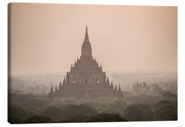 Quadro em tela  Sunrise at Sulamani Buddhist Temple - Matthew Williams-Ellis