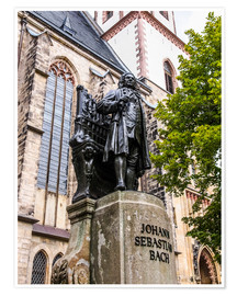 Póster Premium  Bach Monument in Leipzig
