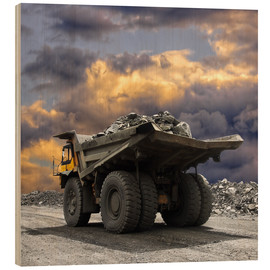 Quadro de madeira  Severe weather in the gravel pit