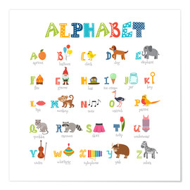 Póster Premium  Cheerful alphabet (English) - Typobox