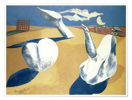Póster Premium  Stranded figures into the sunset - Paul Nash