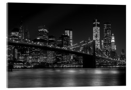 Quadro em acrílico  Brooklyn Bridge at Night - Thomas Klinder