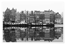Póster Premium  Reflections of Amsterdam - George Pachantouris