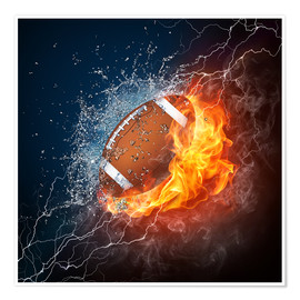 Póster Premium  The power of Football