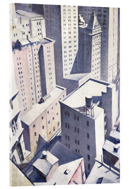 Quadro em acrílico  Looking Down on Downtown - Christopher Nevinson