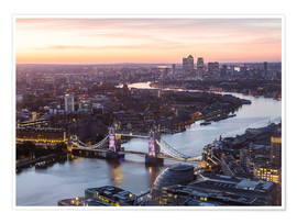 Póster Premium  Colourful sunsets in London - Mike Clegg Photography