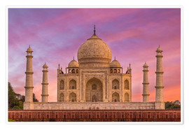 Póster Premium  Taj Mahal, India - Mike Clegg Photography