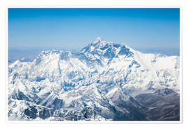Póster Premium  Aerial view of Mount Everest in the Himalaya - Matteo Colombo