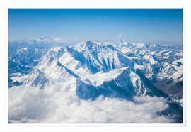 Póster Premium  Aerial view of mount Everest, Himalaya - Matteo Colombo