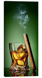 Quadro em tela  Cigar on the rocks