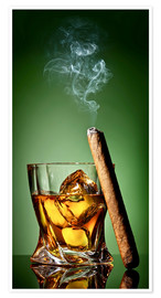 Póster Premium  Cigar on the rocks
