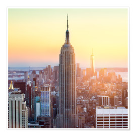 Póster Premium  Empire State Building in New York City at sunset - Jan Christopher Becke