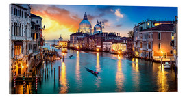 Quadro em acrílico  Grand Canal in Venice at night, Italy - Jan Christopher Becke