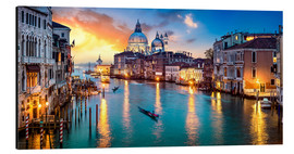 Quadro em alumínio  Grand Canal in Venice at night, Italy - Jan Christopher Becke
