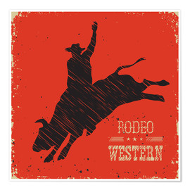 Póster Premium  Rodeo Ride