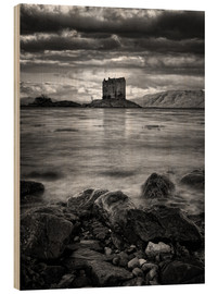 Quadro de madeira  Castle Stalker, Scotland - Martina Cross