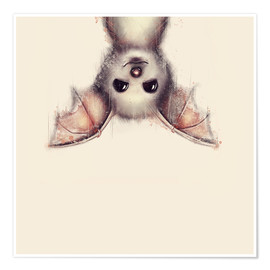 Póster Premium  Hang in there, bat - Romina Lutz