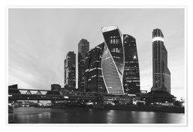 Póster Premium  Business center Moscow