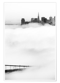 Póster Premium  San Francisco disappeared in the fog