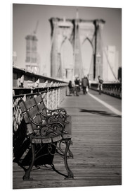 Quadro em PVC  Bench on Brooklyn Bridge - Denis Feiner