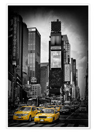 Póster Premium NEW YORK CITY Times Square