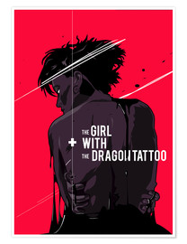 Póster Premium The Girl with The Dragon Tattoo