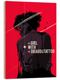 Quadro de madeira  The Girl with The Dragon Tattoo - Fourteenlab