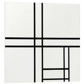 Quadro em PVC  Composition in White, Black, and Red - Piet Mondrian