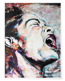 Póster Premium  Billie Holiday, I'm a Fool to Want You - Christel Roelandt