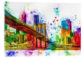 Quadro em acrílico  New York with Brooklyn Bridge - Peter Roder