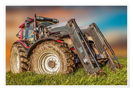 Póster Premium  Tractor with front loader - Peter Roder