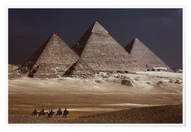 Póster Premium  Pyramids of Giza, Middle East - Catharina Lux