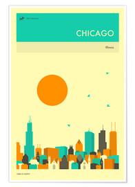 Póster Premium  Chicago - Jazzberry Blue