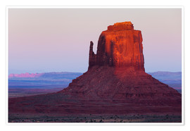 Póster Premium Monument Valley at sunset