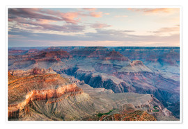 Póster Premium  Sunset over the Grand Canyon south rim, USA - Matteo Colombo