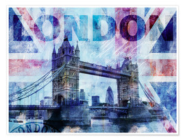 Póster Premium  London Tower Bridge - Andrea Haase
