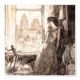 Póster Premium  View from the window - Henri Patrick Raleigh
