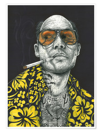 Póster Premium  Fear and Loathing - Inked Ikons