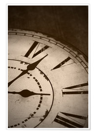 Póster Premium  picture of an old vintage clock