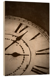 Quadro de madeira  picture of an old vintage clock