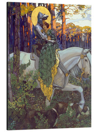 Quadro em alumínio  The legend of Saint George, Salvation - Maximilian Liebenwein