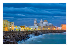 Póster Premium  Cadiz in the evening - Jörg Gamroth